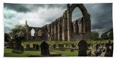 Ruins Of Bolton Abbey Bath Towel by Jaroslaw Blaminsky