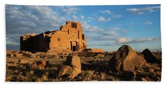 Ruins Of Yereruyk Temple Under Amazing Cloudscape, Armenia Bath Towel