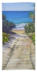Bath Towel featuring the painting Rules Beach Queensland Australia by Chris Hobel