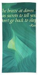 Rumi's Breeze At Dawn Hand Towel