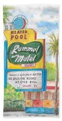 Rummel Motel In Las Vegas, Nevada Hand Towel
