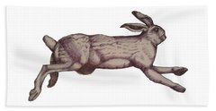 Running Bunny Jan 27 Hand Towel by Donna Huntriss