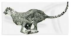 Running Cheetah Bath Towel