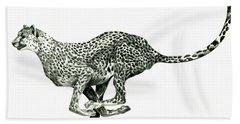 Running Cheetah Hand Towel