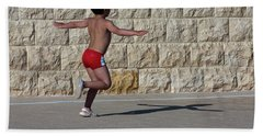 Bath Towel featuring the photograph Running Child by Bruno Spagnolo