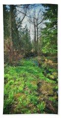 Running Creek In Woods - Spring At Retzer Nature Center Bath Towel by Jennifer Rondinelli Reilly - Fine Art Photography