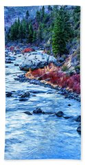 Running Dry Hand Towel by Nancy Marie Ricketts
