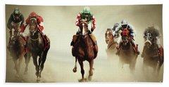 Running Horses In Dust Hand Towel