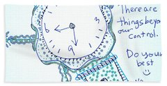 On Time Bath Towel by Carole Brecht