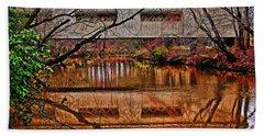 Running Waters Covered Bridge 025 Bath Towel by George Bostian