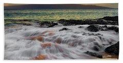 Running Wave At Keawakapu Beach Hand Towel