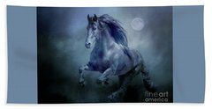 Running With The Moon Bath Towel