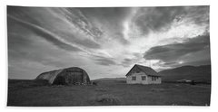 Rural Decay In Iceland Bw Hand Towel