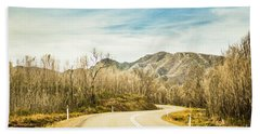 Rural Road To Australian Mountains Hand Towel