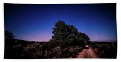 Rural Starlit Road Bath Towel