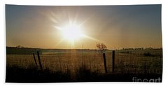 Rural Sunrise Bath Towel by Sue Stefanowicz