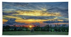 Rural Sunset Bath Towel
