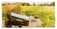 Rural Tasmania Farm Scene Bath Towel