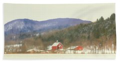 Bath Towel featuring the digital art Rural Vermont by Sharon Batdorf