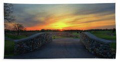 Rush Creek Golf Course The Bridge To Sunset Bath Towel