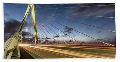 Rush Hour - Ravenel Bridge Charleston Sc Hand Towel