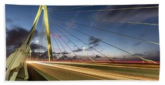 Rush Hour - Ravenel Bridge Charleston Sc Bath Towel