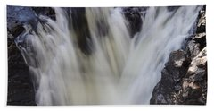 Bath Towel featuring the photograph Rushing by Aimelle