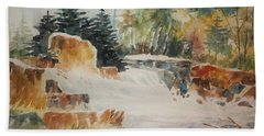 Rushing Streambed Hand Towel by Al Brown