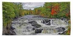Hand Towel featuring the photograph Rushing Towards Fall by Glenn Gordon