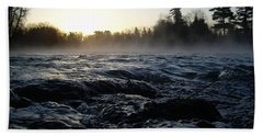 Hand Towel featuring the photograph Rushing Water In Missississippi River by Kent Lorentzen