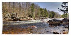 Bath Towel featuring the photograph Rushing Waters Of The Moose River by David Patterson