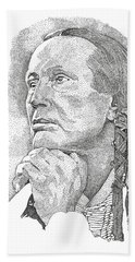 Russell Means Hand Towel