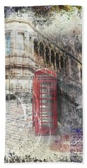 Russell Square Bath Towel by Nicky Jameson