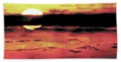 Russet Sunset Bath Towel by Paula Ayers