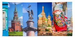 Russia Collage Hand Towel