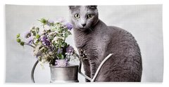 Russian Blue 02 Bath Towel
