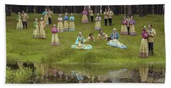 Russian Folk Group Bath Towel