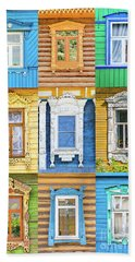 Bath Towel featuring the photograph Russian Windows by Delphimages Photo Creations