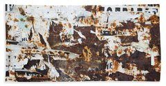 Rust And Torn Paper Posters Hand Towel by John Williams