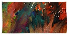 Hand Towel featuring the painting Rust Never Sleeps by Kevin Caudill