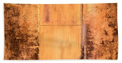Hand Towel featuring the photograph Rust On Metal Texture by John Williams