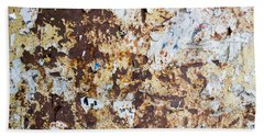 Rust Paper Texture Hand Towel by John Williams