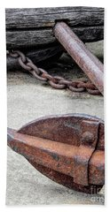 Rustic Anchor Hand Towel