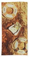 Rustic Beach Decorations  Hand Towel