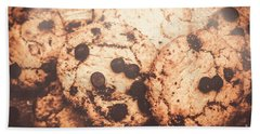 Rustic Chocolate Chip Cookie Snack Bath Towel