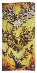 Rustic Country Style Jewels  Bath Towel