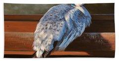 Rustic Elegance - White Peahen Bath Towel