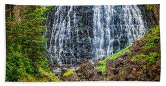 Bath Towel featuring the photograph Rustic Falls  by Rikk Flohr