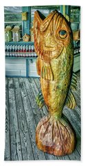 Rustic Fish Hand Towel