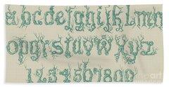 Rustic Font Bath Towel